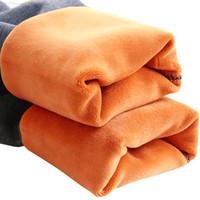 maternidade inverno roupas calças venda por atacado-Leggings de maternidade para as mulheres grávidas roupas de inverno calças de maternidade engrossado quente além de roupas de gravidez de veludo