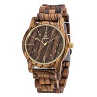 Wholesale women s luxury watches - Luxury Top Brand Uwood Men`s Wood Watches Men and Women Quartz Clock Fashion Casual Wooden Strap Wrist Watch Male Relogio