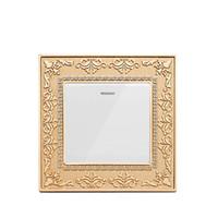 europäischer wandschalter großhandel-Europäischer Retro-Stil Goldfarbener Wandschalter und 10A 220-250V Lampenschalter und 1 Gang 1-Wege / 2-Wege-Druckschalter