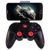 bluetooth gamepad akıllı toptan satış-T3 Kablosuz Joystick Bluetooth 3.0 Gamepad Oyun Kontrolörü Tablet PC Android Akıllı cep telefonu için Oyun Uzaktan Kumanda