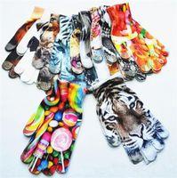 ingrosso guanti carino ragazzi-Guanti a maglia stampati bambini 3D Guanti di pulizia per la primavera Bambini Ragazzi Ragazze Cute Animal Vivid Face Cartoon touch Screen guanti C0175