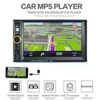 Barato Tablet 6.5-6.6 Inch Car Stereo MP5 Player 2 Din Vídeo Áudio Suporte Telefone Tablet Conectado GPS Bluetooth FM DVR Sistema Android CMO_22J