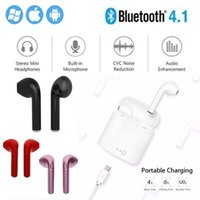 Wholesale 2018New i7 i7s Mini tws Twins earphones wireless bluetooth in Ear Buds for Stereo Earbuds In Ear headset with box For Android Air Microphone