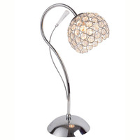 elegantes lámparas de cristal al por mayor-Modern Crystal Ball Polish Bedsides Lámpara de mesa Lámpara de escritorio de la base de cromo lámpara de escritorio creativa elegante Living Room Table Light