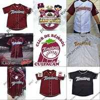 Wholesale free baseball logos online - Tomateros de Culiacan Campeones Jersey Stitched Embroidery Logos Baseball Jerseys Custom Any Name Any Number