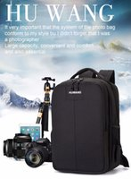 Wholesale sport camera waterproof case resale online - HUWANG Multi functional Waterproof Dual Shoulder Backpack Padded Shockproof Camera Case Bag Outdoor Sports SLR Camera Soft Bag