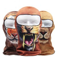 Wholesale 3d balaclava mask for sale - New D Animal Balaclava Cap Halloween Hats Bicycle Protection Helmet Full Face Mask DHL free ship