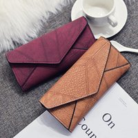 Wholesale long chain handbags - Women Daily Use Clutches Handbag Quality Clutch Nubuck Leather Purse Fashion Handbag Wallet Designer Wallets Famous Brand High Quality