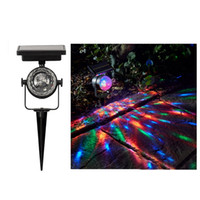 Wholesale outdoor laser projector lights - New Solar Power Lamp LED Laser RGB Projector Light Colorful Rotating Solar Light Outdoor Landscape Garden Lawn Lamp Home Courtyard Decor