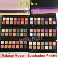 Wholesale glitter shadows online - Makeup Modern Eye Shadow Palette Norvina Sultry eye shadow With Brush Colors Matte Shimmer hills Soft Glam Eyeshadow