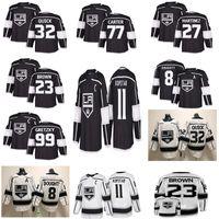 schnelles trikot großhandel-Los Angeles Kings 11 Anze Kopitar 32 Jonathan Quick 8 Drew Doughty 99 Wayne Gretzky Schwarze Hockeytrikots