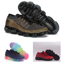Wholesale Tennis Infant - vapormax 2018 Kids Runnin shoes Deep red Rainbow Infant Baby Boy Girl & Youth & Children Sneaker tennis shoes trainer