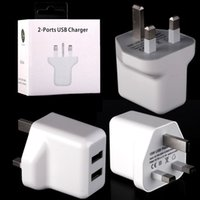 Wholesale 15w speaker - 15W USB Power Adapter UK Dual usb ports 2.1A+1A Usb Wall charger for samsung galaxy s6 s7 s8 s9 iphone 7 8 x android phone mpe speaker