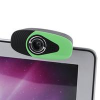 cámara usb portátil al por mayor-HXSJ A871 Cámara web con clip de 360 grados USB de 12 megapíxeles y micrófono con micrófono a la computadora Webcam para computadora portátil de escritorio
