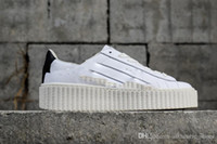 Wholesale platform trainers - PUM Basket Platform Wheat Casual shoes Fenty Cleated Creeper Professional Running shoes Outdoor Trainer PM Suede Creepers