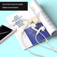 soporte de resorte al por mayor-10 pedazos / porción Auricular Adaptador de tipo C a AUX Adaptador de enchufe de cable conector de audio de 3,5 mm hembra convertidor de auriculares para el iPhone 7 más 8plus