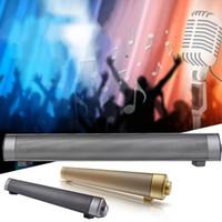 Wholesale Tv Bar Speakers - 10W Bluetooth Speaker Sound Bar Wireless Subwoofer Soundbar Receiver Stereo Super Bass Loudspeaker For iphone TV Phone MIS182