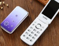 cubierta de botones para celular al por mayor-Rui Platinum X3 Crown, teléfono móvil con tapa abatible de 2,4 pulgadas para mujeres, botones de cristal, teléfonos móviles con tapa