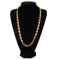 collar de joyas del día de san valentín al por mayor-Los hombres de Hip Hop Collares de oro Cadenas de diseño bruto Joyas 60 cm Cadena larga Piezas de relleno Hombres Moda Hip Hop Collar de cadena para hombre
