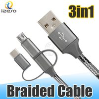 Wholesale cellphone housing online – custom 3FT cm Braided USB Cable Type C Micro USB Cord in Metal Housing Durable Cellphone Cables for Samsung Note10 Android Phone