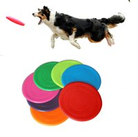 Wholesale multi pet toys for sale - Pet dog flying disc tooth resistant dog training toy ply frisbee fantastic dog toys multi color