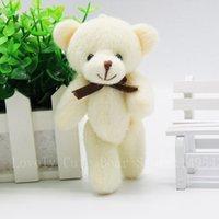 ce teddy großhandel-Kawaii Kleine Joint Teddybären füllte Plüsch mit Bogen Tie12CM Spielzeug Teddy-Bear Bear Ted Bären Plüschtiere Hochzeit 40PCS / LOT WRZ008