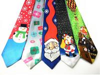 Wholesale Gravatas Slim - New Fashion Christmas necktie Paisley Ties For Men Corbatas Slim Suits Vestidos Necktie Party Ties Vintage Printed Gravatas