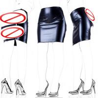 Wholesale bondage slave clothes online - Adult Sex Products Faux Leather Slave Spanking Skirt Open Hip Bondage Fetish Lingerie Erotic Sexy Lace Up Mini Dress