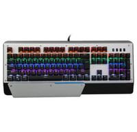teclado sem fio multi touch venda por atacado-Teclado de maquinaria de jogo verde eixo competição desktop portátil teclados com fio