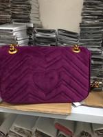 ingrosso sacchetto nero del partito-2018 TOP Fashion catena nera borsa per il trucco famosa borsa da festa di lusso Marmont borsa a tracolla in velluto Womendesigner borse Spedizione gratuita # 5118