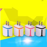 ic player venda por atacado-Carregador de doces duplo USB IC programa 2A carregador de cabeça de apoio série Apple player, telefone celular, iPad, iPod e tablet