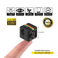 pequeños grabadores de video al por mayor-Mini cámara de acción Sport DV 1080P Mini cámara de visión nocturna por infrarrojos Cámara pequeña SQ 11 oculta Grabadora de video DV