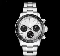 Wholesale hand japanese - AAA quality Luxury Mens Chronograph Vintage Perpetual Paul Newman Japanese Quartz Stainless Steel Men Mens Watch Watches Wristwatches