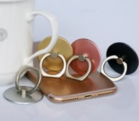 Wholesale mp3 roses - hot Finger Ring Mobile Phone Smartphone Stand Holder For Phone IPAD MP3 Car Mount Stand with package
