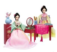 Wholesale toys for chinese children - Kurhn Doll For Girl Toys traditional Chinese Doll Toy With Accessories Kids Children Birthday Gift #3078-1-2