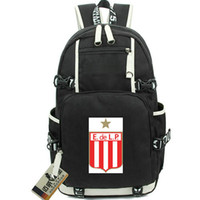 Wholesale la laptop for sale - Group buy La Plata rucksack Estudiantes daypack Football club schoolbag Soccer knapsack Laptop backpack Sport school bag Out door day pack