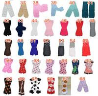 bebek şivron tozluk toptan satış-Toptan Katı Renk Bebek Chevron Bacak Isıtıcı Çocuk Boy Kız Bebek Holloween Noel Tayt renk seçebilirsiniz 48 adet = 24 çift / grup
