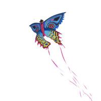 ingrosso il nastro gioca i bambini-Carino aquilone farfalla 140 centimetri con 550 nastro giochi sportivi all'aperto per i bambini colorati aquiloni farfalla 2017 nuovo arrivo