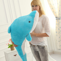 Wholesale dolphin promotions resale online - promotion large lovers dolphins plush toy kawaii animals doll cute doll pillow girl birthday gift inch cm DY50330