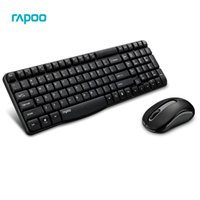 Wholesale Mouse Rapoo - Rapoo X1800S Waterproof Multimedia Wireless Keyboard Mouse Combos Optical 2.4G 108 Keys 10M Transmision Fn Keys for PC game