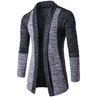 Wholesale british knitting wool online - New Men s Long sleeved Sweaters British Retro Stitching Cardigan Male Sweater Coats Slim Fashion Casual Men Sweater High Quality