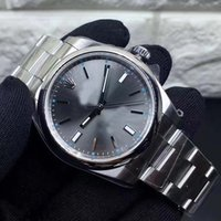 Wholesale free style fashion - 2018 New Style Rol Automatic Watch Men Oyster Gray Dial Stainless Band Fashion Watch Free Shipping