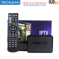 Wholesale iptv box indian channels for sale - Group buy MAG250 Linux Smart IPTV Box With IUDTV Year Sweden Channels Netherlands Spain French Portugal TV Abonnement Arabic Poland Indian TV M3U