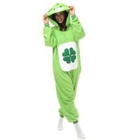 disfraz de oso adulto al por mayor-Unisex adulto Unisex Cosplay Disfraz Anime Cartoon Kigurumi Pijama Lucky Bear