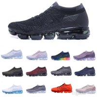 Wholesale Fashion Weaves - 2018 VaporMax Running Shoes Weaving racer Ourdoor Athletic Sporting Walking Sneakers for Women Men Fashion pink Casual maxes