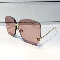 Wholesale fiber square for sale - Group buy Luxury Sunglasses For Women Design Fashion Sunglasses Wrap Sunglass Frameless Coating Mirror Lens Carbon Fiber Legs Summer Style