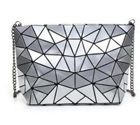 bolsos modası toptan satış-Kadın Bao Bao Çanta Yeni Geometri Lazer Çanta Moda Zincir Kadınlar Için BAOBAO Debriyaj Crossbody Çanta Omuz Çantası bolsos mujer