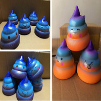 Wholesale toy shit resale online - Squishy cakes shit starry squishies Slow Rising Soft Squeeze Cute Cell Phone Strap gift Stress children toys Decompression Toy T2I215