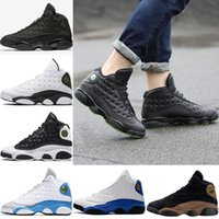 Wholesale Italy Designer Shoes - Mens Designer 13 13s basketball shoes Altitude Italy Blue Hyper Royal White Olive Black cat Men Womens Sports Trainers Sneakers Size 5.5-13
