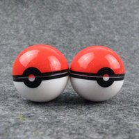 Wholesale pokeball wax jars resale online - Non Stick Pokeball Container Ball Shaped Wax Jars Food Grade Silicone Gel Ball Pattern Storage Box For Herbal Vaporizer DHL Free